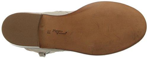 Modern Tappning Kvinna Brixton Western Boot Ljusrosa Ko Mocka