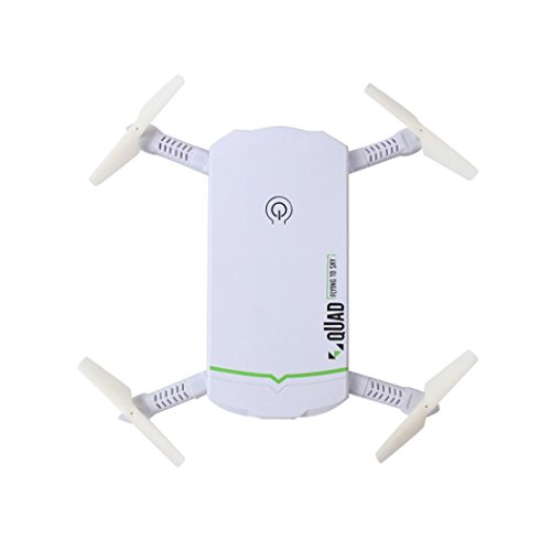 Inverlee Selfie Foldable Portable Mini 2.4G 6Axis HD Camera WIFI FPV RC Quadcopter Drone (White) by Inverlee