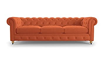 Amazon.com: Liam Chesterfield Sofa - Cordova Picante Orange ...
