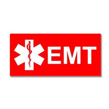 EMT Star Life Red Sticker