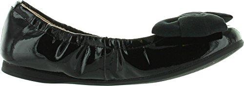 55 Bow Girls Vanesa Fashion Big Designer Venettini Shoes Patent Black Dress Flats 5XqwxdaqE