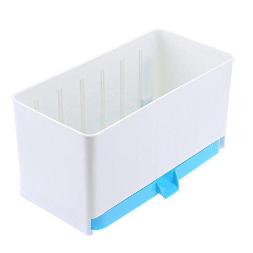 TTnight 2 Layer Draining Rack Storage Box Shelf Kitchen Tableware Holder