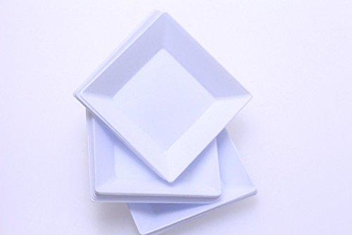 Exquisite Plastic Mini Square Appetizer Plates - 100 Ct Square plastic Dessert Plates - 2.95 Inch. x 2.95 Inch. (Plastic Appetizer Plates)