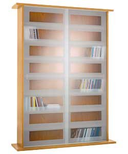 Marvelous Brand New CD And DVD Sliding Glass Door Storage Unit   Oak Effect Cheapest  On Amazon