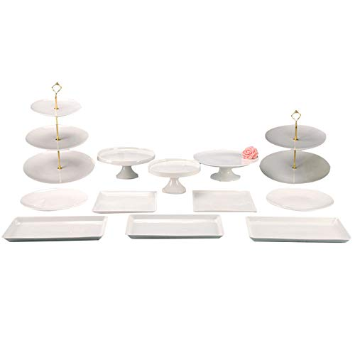 Dessert Cupcake Stand for Tea Party Serving Platter Baby Shower Transser 3 Tiers Round Cake Stand Party Wedding Birthday Holiday Tree Tower Cupcake Stand Clear
