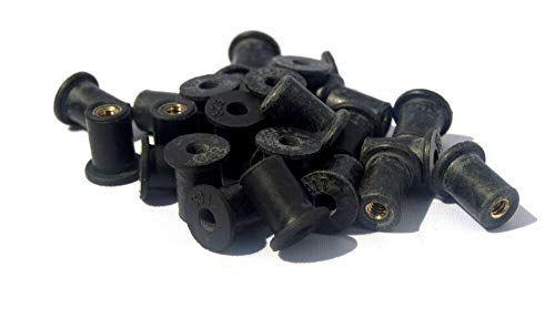 M4 Rubber Well Nut Windscreen /& Fairing 8mm 5//16 Wellnuts Qty 25