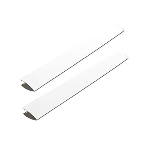 (ITEMporia 2 Pack Standard 25 Inch Kitchen Stove Gap Filler Cover - Premium Silicone Spill Guard for Stovetop, Oven, Washer, Dryer, Washing Machine and More, White, by)
