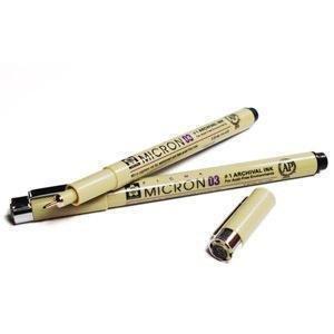 Sakura Pigma Micron Pen Set, 6-pack Fine Line Black