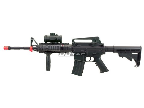 BBTac M83 Full and Semi Automatic M4 Electric Airsoft Gun Full Tactical Accesorries, Flashlight ...