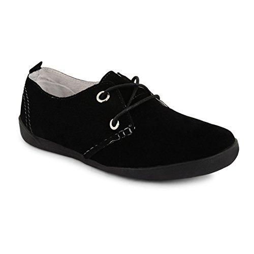 Footwear Sensation - Zapatos de cordones para mujer Negro - negro