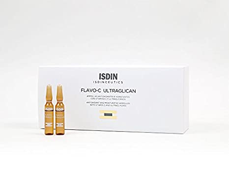 Amazon.com: ISDINCEUTICS FLAVO-C ULTRAGLICAN AND VIT-C 2ml 30 AMPOLLAS: Beauty
