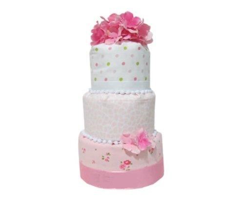 1,2,3 Tier Diaper Fondant Cake By CSM (3 tier, Pink)