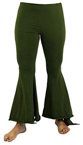 Guru-Shop Palazzohose, Hippie Schlaghose, Leggings, Damen, Viskose, Size:38, Lange Hosen Alternative Bekleidung Grün