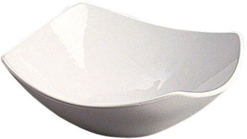 "American Metalcraft SQND9 Prestige Ceramic 9"" Squound Bowl, White"