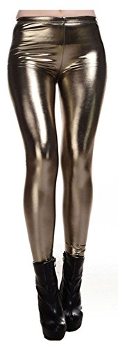 Javier Womens Metallic Clubwear Leggings