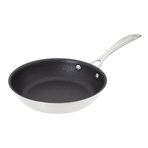 American Kitchen Cookware 8-inch Nonstick Frying Pan; PFOA Free Nonstick Cookware with Tri-Ply Stainless Steel; Manufactured in USA
