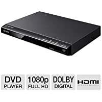 Sony 1080p Upscaling DVD Player With Multi-Brand TV Remote Control, Multiple Format Disc Playback, Precision Cinema Progressive Technology, Multiple-Disc Resume, Dolby Digital And DTS Decoding, Fast/Slow Playback With Sound, Plus 6ft HDMI cable