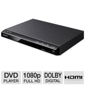 (Sony 1080p Upscaling DVD Player With Multi-Brand TV Remote Control, Multiple Format Disc Playback, Precision Cinema Progressive Technology, Multiple-Disc Resume, Dolby Digital And DTS Decoding, Fast/Slow Playback With Sound, Plus 6ft HDMI cable)