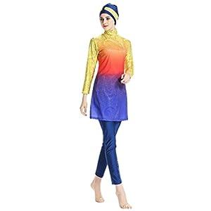 KXCFCYS Modest Swimwear Long Sleeve Swimsuit Bathing Suit Beachwear Costume