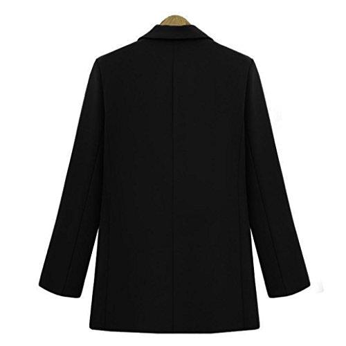 Overdose Chic Manteau vintage Vestes Outwear Noir Coupe Hiver Blazer Femme fU7wfq