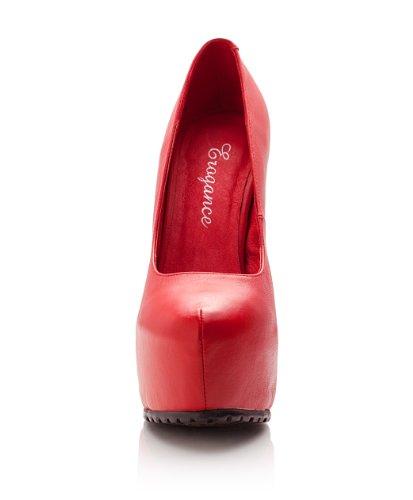 Compensées Plateau Echtleder Rouge Heels Erogance High Femme Chaussures wCHxqnzF8