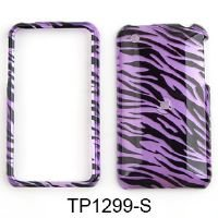 3g Purple Zebra Cover (CELL PHONE CASE COVER FOR APPLE IPHONE 3G 3GS TRANS PURPLE ZEBRA)