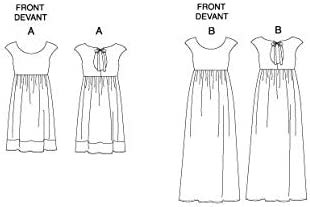 White Pack of 1 Butterick Patterns B5456 Size F5 16-18-20-22-24 Misses Petite Dress