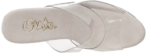 Pleaser - Sandalias mujer Multicolor - Clear/white