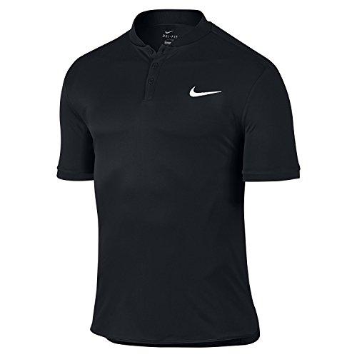 Nike Men's Court Advantage Tennis Polo Black 729384-010 (Large)