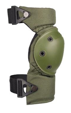 ALTA 52913.09 AltaCONTOUR Knee Protector Pad, Olive Green Nylon Fabric, AltaLOK Fastening, Flexible Cap, Round, Olive Green