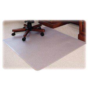 Lorell Med Plush Rectangular Chairmat, 46 by 60-Inch, Clear by Lorell
