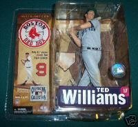 McFarlane Toys MLB Cooperstown Series 4 Action Figure Ted Williams (Boston Red Sox) Grey Uniform Variant