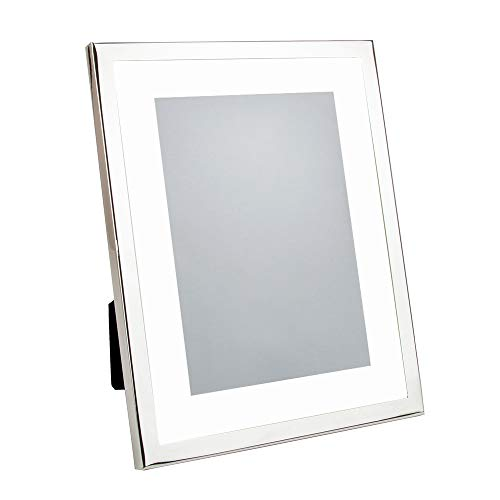 Silver Coated Frame - Happy Homewares Rectangular Silver Plated Matted Picture Frame to Hold 5