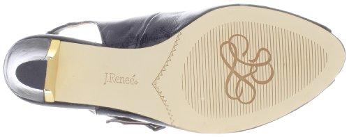 Slingback Lanna patent Sandal J Renee Women crinkle black qfnBvwPxt