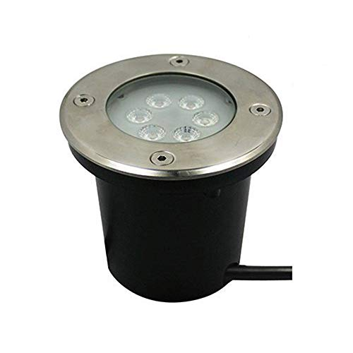 Makergroup 12V Low Voltage Outdoor Lighting 7W Landscape In-Ground Well Lights IP67 Waterproof LED Light Fixture for Landscape Lighting, Garden Lighting,Yard Lighting (Warm White)