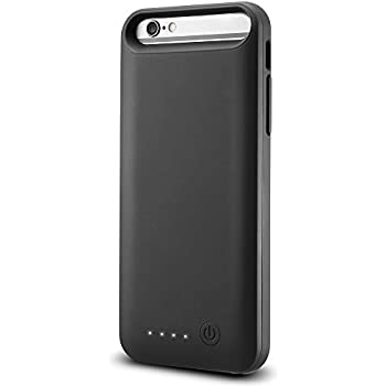 Spigen Essential Volt Pack iPhone 6S Battery Case iPhone 6/6s External Charger Case / Portable Charger MFi Apple Certified Charging Case for iPhone 6 / iPhone 6S 3100 MAH - Black