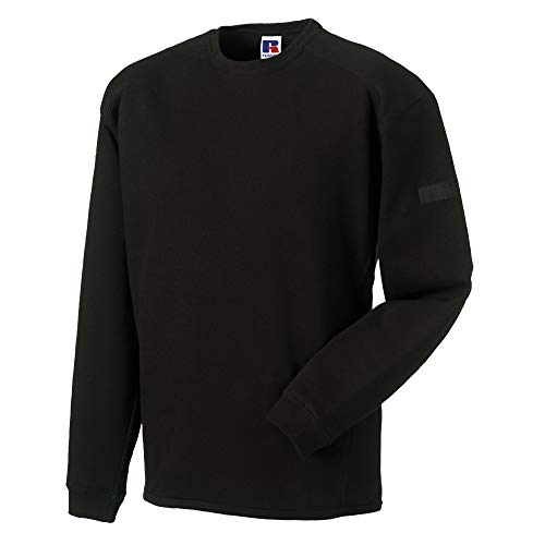 Russell Workwear Men's Crew Neck Set In Sweatshirt Top Xxxx-Large Black