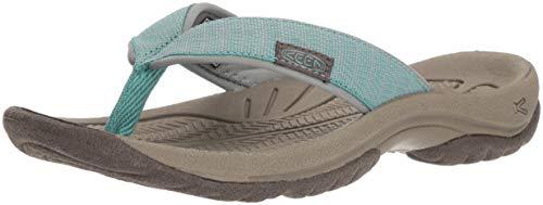 - KEEN Women's KONA FLIP Sandal, Duck Green/Wasabi, 7.5 M US