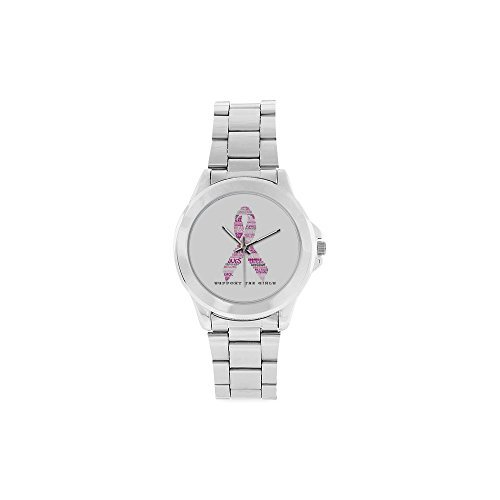thanksgiving-day-gift-breast-cancer-awareness-pink-ribbon-unisex-stainless-steel-watch