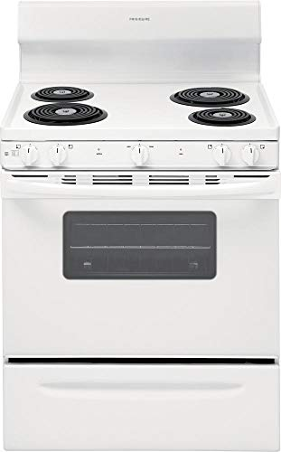 - Frigidaire FFEF3010UW 30 Inch Freestanding Electric Range with 4 Coil Elements in White