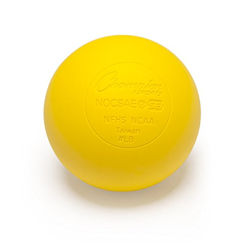 Champion Sports Colored Lacrosse Balls: Yellow Official Size Sporting Goods Equipment for...