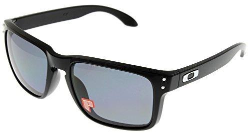 Oakley Holbrook Sunglasses Polished Black with Grey Polarized ()
