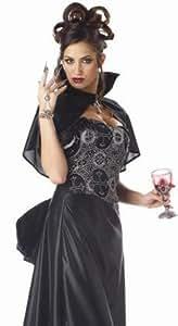 Sexy Halloween Costume Black Goth Lady Vampire Outfit M Womens U.S. Medium