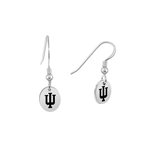 Indiana University Oval Charm Earrings
