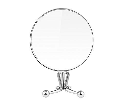 Mia Mirror 10x/1x Magnification, Double-Sided Folding Vanity Mirror, 3 in 1 Handheld + Table + Wall, Silver Polished Chrome Finish, 11.5 Inches L, for Women, Hair Stylists, Cosmetologists, Travel