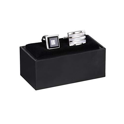 HooAMI Cufflink Box Tie Clip Bar Gift Box Black Jewelry Gift Box (Boxes Cufflink)
