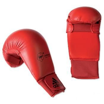 adidas WKF Karate Gloves - Red (Large)