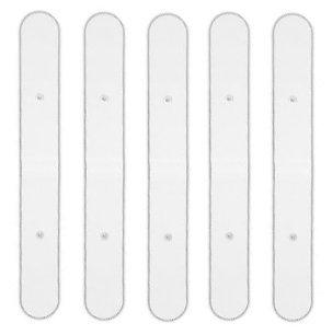 HealthmateForever 5P SNAP-ON WHITE LONG PAD FOR HEALTHMATEFOREVER TENS UNITS