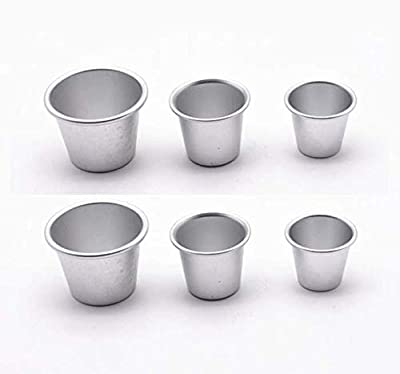 Astra Gourmet Set of 6 Nonstick Individual Tumblers Popovers| Chocolate Molten Pans| Pudding Cups| Raspberry Souffle Pot| Darioles Ramekins Brownies Mold - Assorted 3 Size