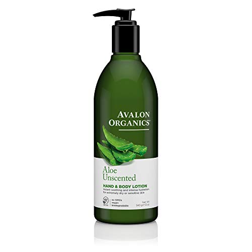 Avalon Organics Unscented Aloe Hand & Body Lotion, 12 oz.